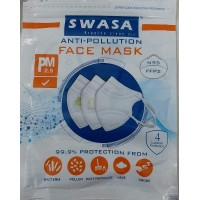 SWASA N95 Mask Certified Reusable & Washable with Nose Pin (PM 2.5, Pack of 5, Without Valve)