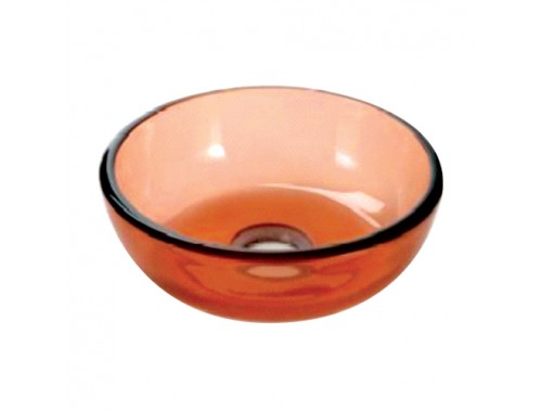 Orange Glass Spitoon